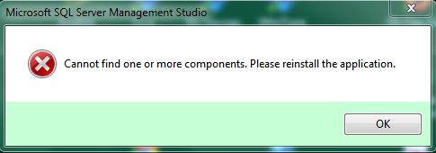 SSMS error